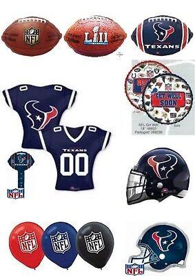Houston Texans NFL Helium Balloons Party Ware Decoration Novelty Gift - Balloons Houston