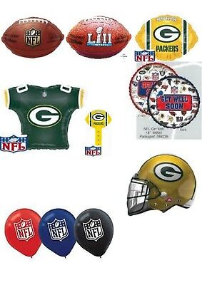 Green Bay Packers NFL Helium Balloons Party Ware Decoration Novelty Gift (Green Bay Packers Party Decorations)