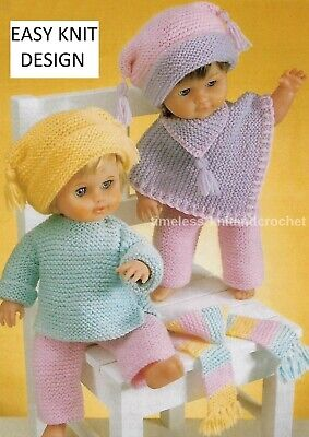 KNITTING PATTERN FOR DOLLS CLOTHES / BABY / REBORN - EASY TO KNIT - NO SHAPING