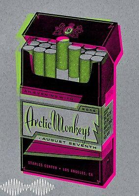"""ARCTIC MONKEYS Los Angeles Tour Poster (LA) Cigarette Pop Art """"A3"""" Poster"""