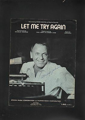 Let Me Try Again 1973 Frank Sinatra Sheet Music