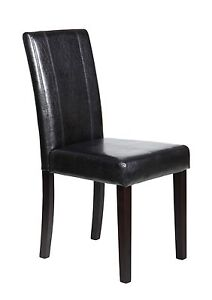 Set of 2 new Elegant Design Leather Dining chairs furniture in 4 colors