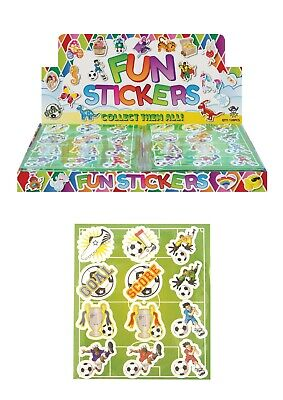 Football Kids Party Themed Sticker Sheets Loot Bag Fillers Favours Prizes ](Football Themed Favors)