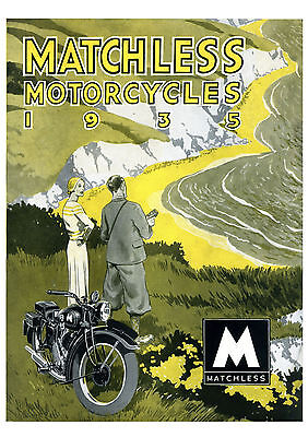 1935 Matchless Motorcycles poster