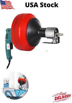 Electric Drain Cleaner Snake Lightweight Plumbing Tool Machine
