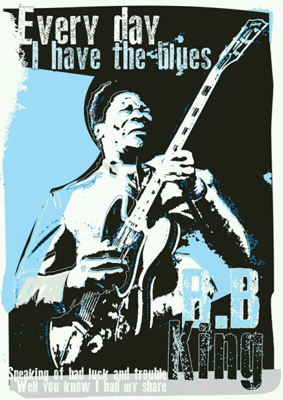 BB King blues specially designed poster prints
