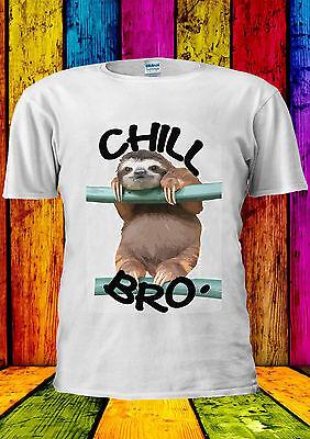 Chill Out Sloth Bro Funny Animal T-shirt Vest Tank Top Men Women Unisex 2236