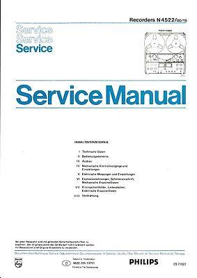 Service Manual-Anleitung für Philips N 4522 gebraucht kaufen  Sulzbach-Rosenberg