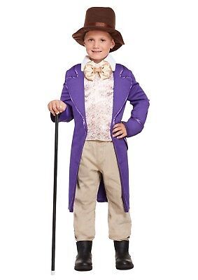 Child/ Boys Willy Wonka Costume Chocolate Factory Fancy Dress Outfit Book Week - Willy Wonka Outfit