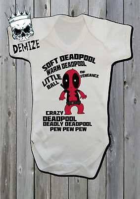 Soft Deadpool Baby Grow Body Suit Vest DEADPOOL - Deadpool Bodysuit