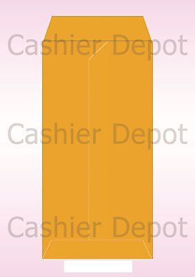 11 Open End Envelopes - #11 Policy Envelope (Open End), Brown Kraft, 4 1/2