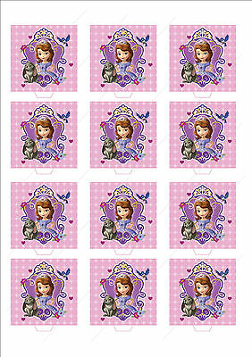 Novelty Princess Sofia 1st Portrait Edible Cake Cupcake Toppers Decorations Girl