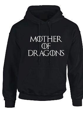 GAME OF THRONES HOODIE MOTHER OF DRAGONS HOODIE KHALEESI DAENERYS (Game Of Thrones Targaryen Hoodie)