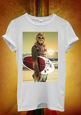 Star Wars Chewbacca Surfing Funny Men Women Unisex T Shirt Tank Top Vest 67
