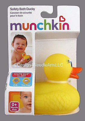 Safety Bath Duck -  Rubber Ducky - Thermometer Baby Bath Accessory