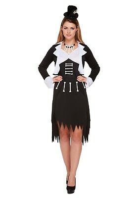 Ladies Fancy Dress Voodoo Woman Costume Halloween Caveman Skeleton Scary (Halloween Costumes For Woman)
