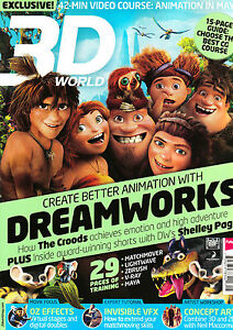 3D WORLD Magazine May 2013 DREAMWORKS The Croods SHELLEY PAGE Eye Candy @NEW@