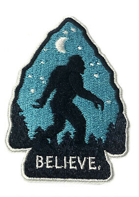 Bigfoot Arrow Embroidered Patch Iron/Sew-On Applique X-Files Cryptid Mystery