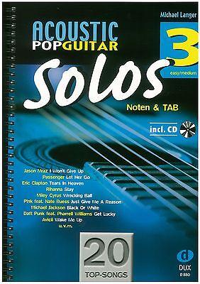 Langer - Acoustic Pop Guitar - Solos 3 inkl. CD - Spielstücke