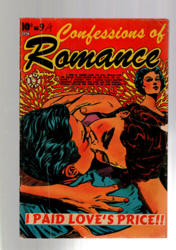 CONFESSIONS OF ROMANCE #9 RACY PRE CODE L.B COLE COVER, WALLY WOOD ART 1954