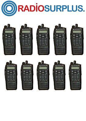 10x Used Motorola Xpr6550 Uhf2 450-512mhz Radios 10x Pmae4024 Antennas