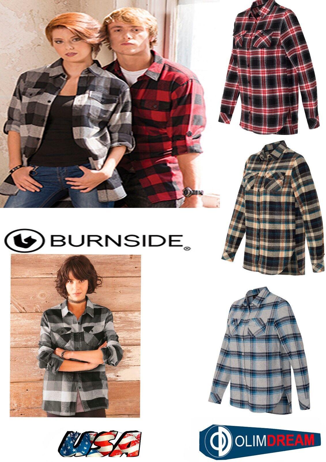 Burnside - Women's Yarn-Dyed Long Sleeve Flannel Shirt - 521