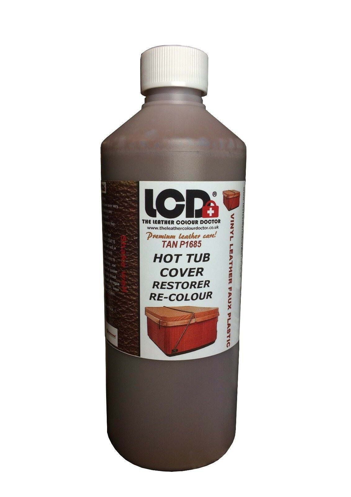 Hot Tub cover restorer cleaner re-colour restoration kit Vinyl Leather Plastic .