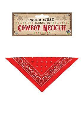 Henbrandt Red Cowboy Necktie - Kids Fancy Dress Bandanna Costume Party Dress up ()