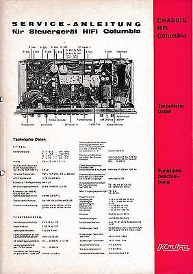 Service Manual-Anleitung für Kuba Steuergerät HiFi Columbia