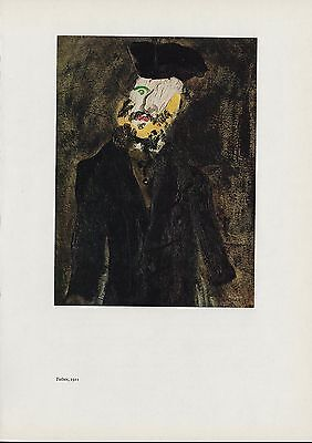 """1963 Vintage """"FATHER, 1921"""" by MARC CHAGALL COLOR Art Plate Lithograph"""