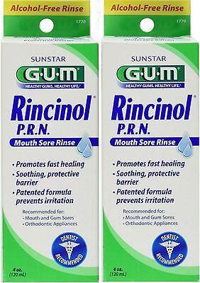 GUM Rincinol Mouth Sore Rinse 4oz ( 2 pack )*** Mouth Sore Rinse