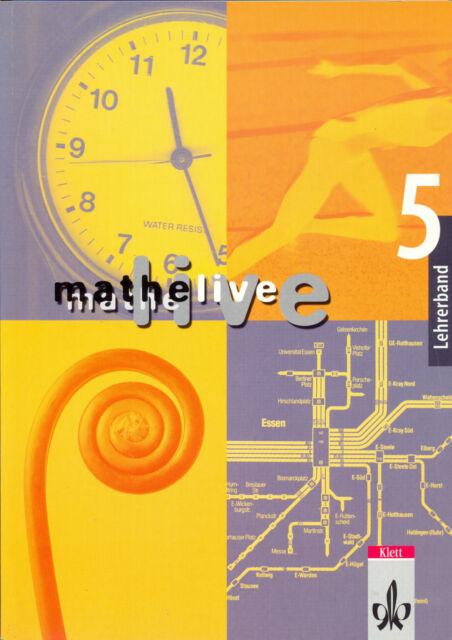 Mathematik live, Klasse 5, Lehrerband, Klett, 2003