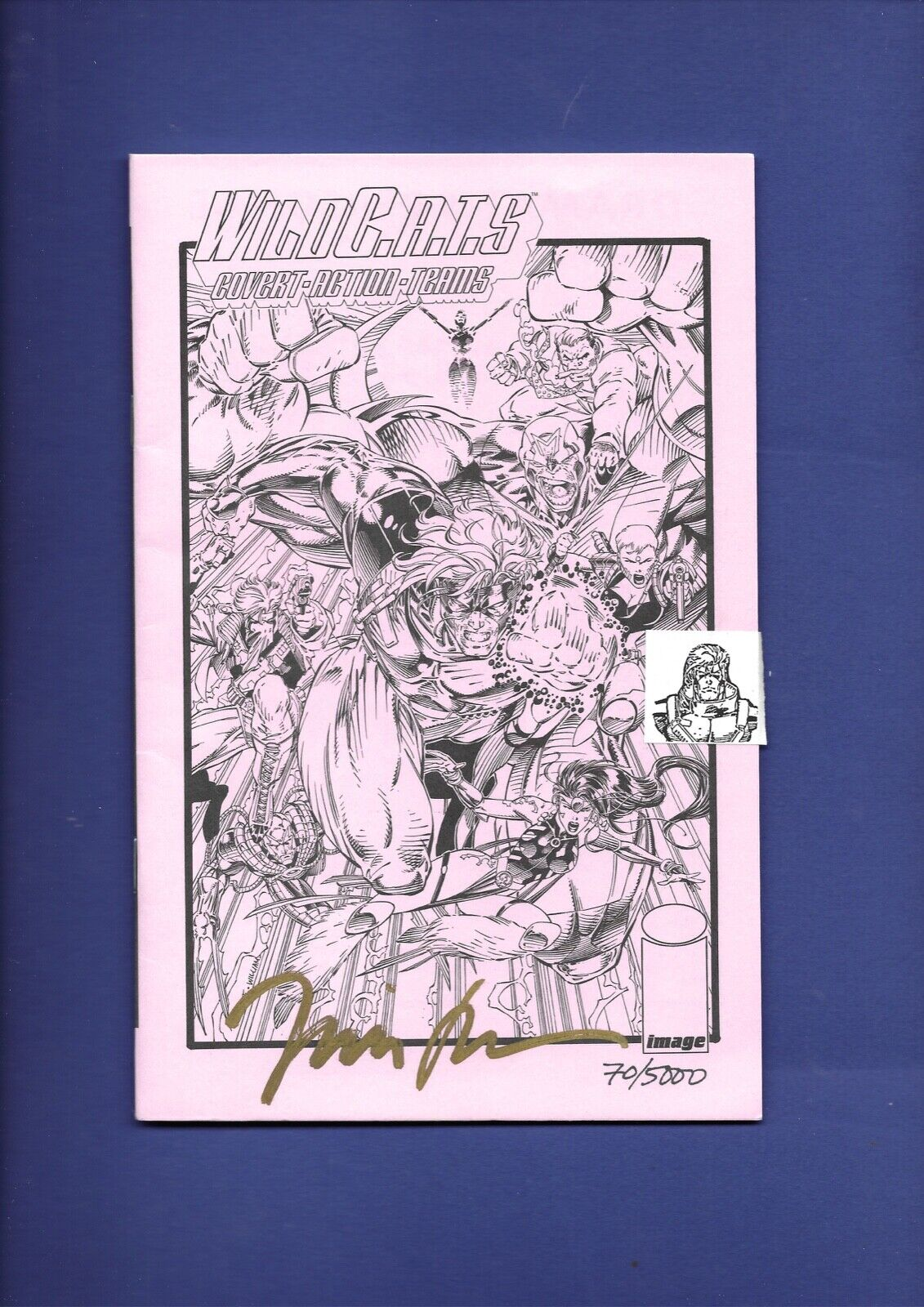 Wildcats 1 PINK Ashcan Edition August 1992 SIGNED Jim Lee 70/5000 Image Comics - $49.99