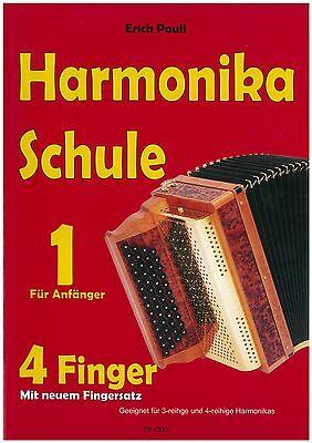 Pauli Erich - Harmonika Schule Teil 1 - 4 Fingersystem - Steirsche - Schule