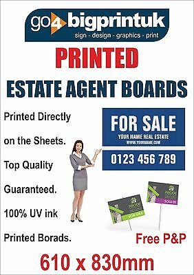 Correx Custom Estate Agent Sign Boards Printed For Sale / To Let / Your Design