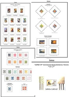 Print a Samoa Stamp Album, fully illustrated and annotated