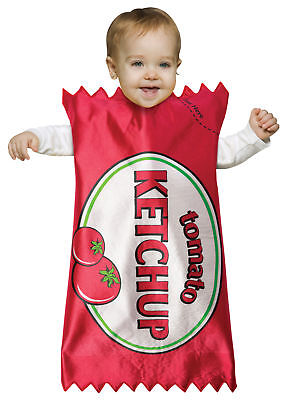 Tomato Ketchup Packet Food Bunting Infant Costume Halloween Rasta Imposta (Ketchup Packet Halloween Costume)