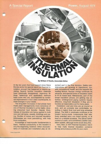 Technical Report - Thermal Insulation Power Magazine - 1974 - Asbestos (E6775)