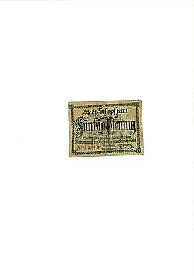 Rupertus 284.2   Notgeldschein Stadt Schopfheim 50 Pfg  Dezember 1919