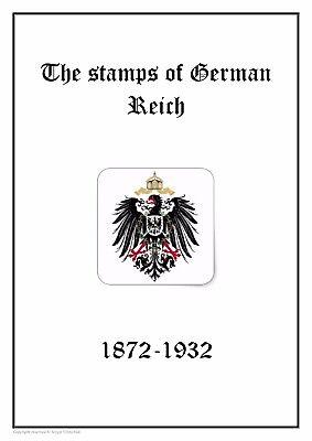 GERMANY Deutsches Reich  1872-1932 PDF(DIGITAL) STAMP ALBUM PAGES