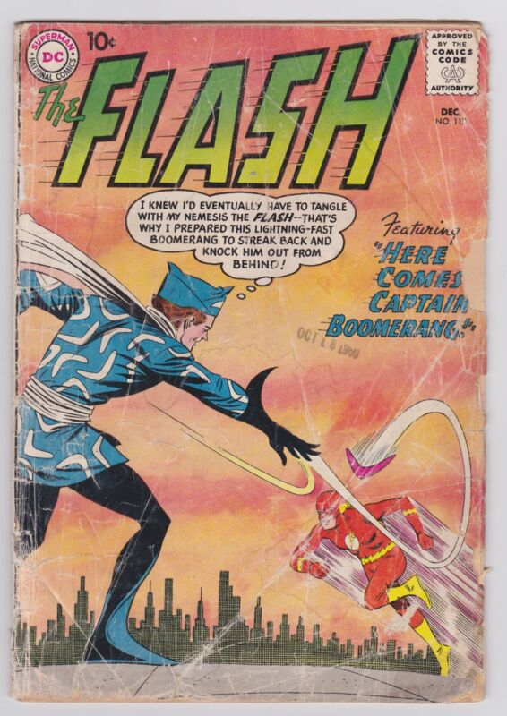 Flash #117 -- first Captain Boomerang, Suicide Squad movie!