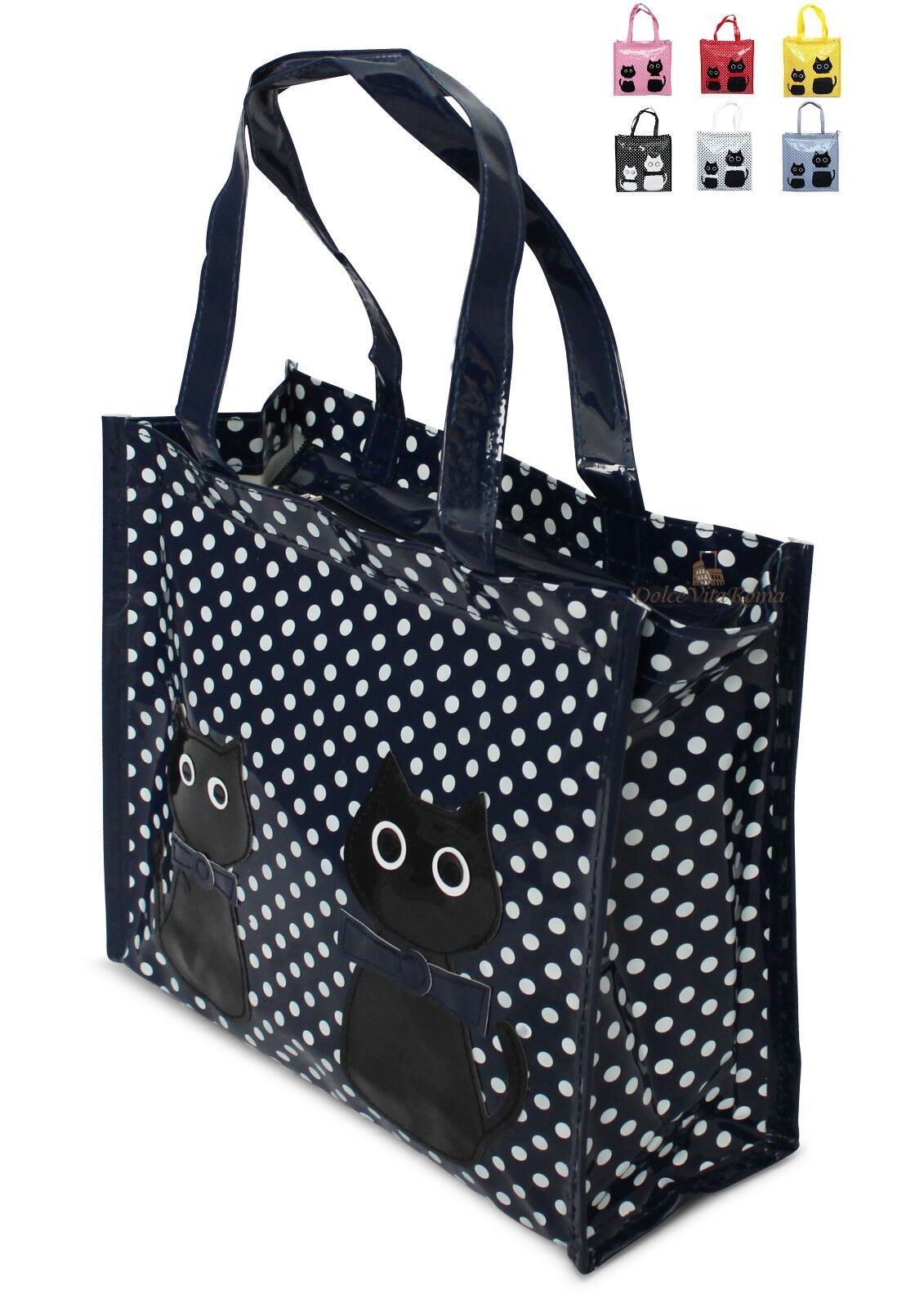 Borsa Shopper Donna In Plastica Busta Spesa Casual