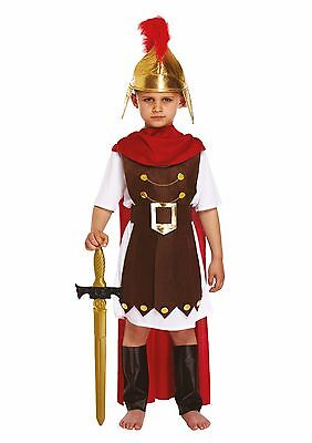 CHILD ROMAN GENERAL SPARTA SOLDIER BOY FANCY DRESS OUTFIT COSTUME BOOK WEEK 4-12 - Childrens Roman Soldier Costume