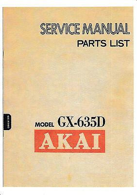 Service Manual Manual For Akai GX-635 D
