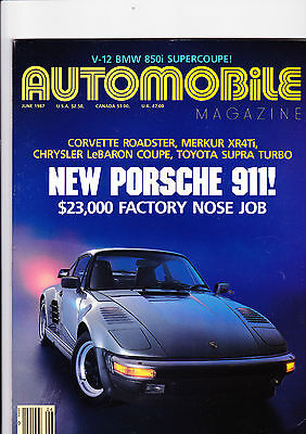 Used, AUTOMOBILE magazine (US) - June 1987 - fascinating and mint for sale  Shipping to Nigeria