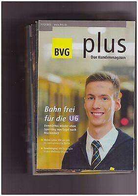 BVG plus. Kundenmagazin Berliner Verkehrsbetriebe 33 verschiedene Hefte