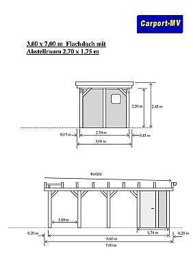 Bauplan Carport Mit U Ohne Abstellraum Doppelcarport