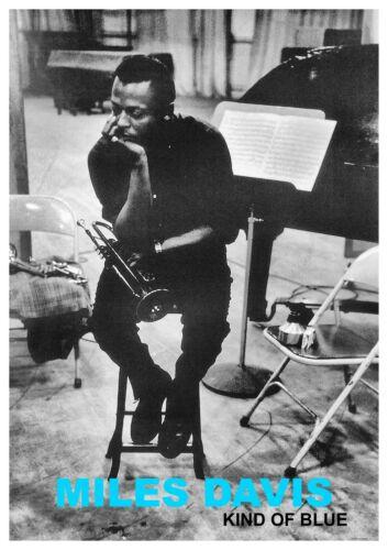 "Reproduction ""Miles Davis - Kind Of Blue"" Poster, Jazz, Vintage Print, Size: A2"