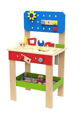 Toysters Wooden Tool Set and Workbench Station for Toddlers | Standup Work Shop  for sale  Linden