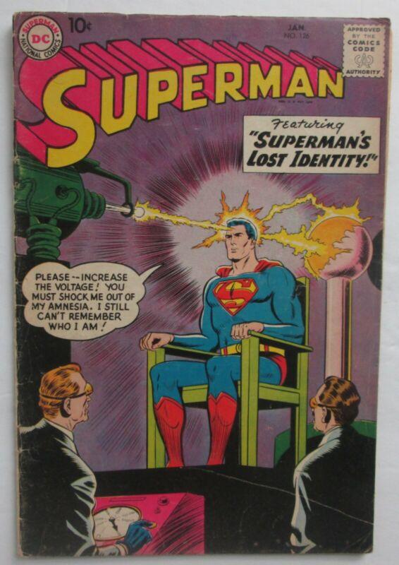Superman #126 (1959).  Silver Age.  Nice condition.
